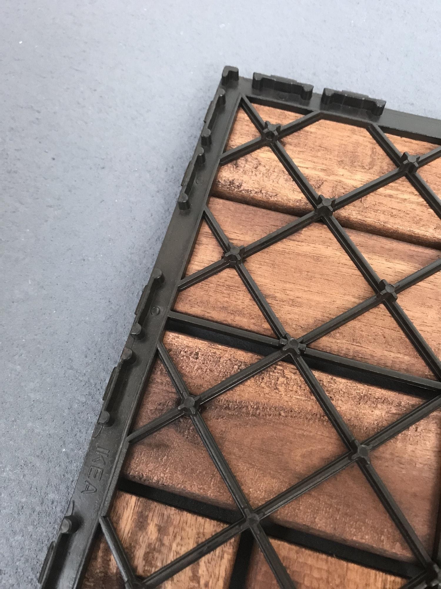 ウッドデッキの接続部の写真