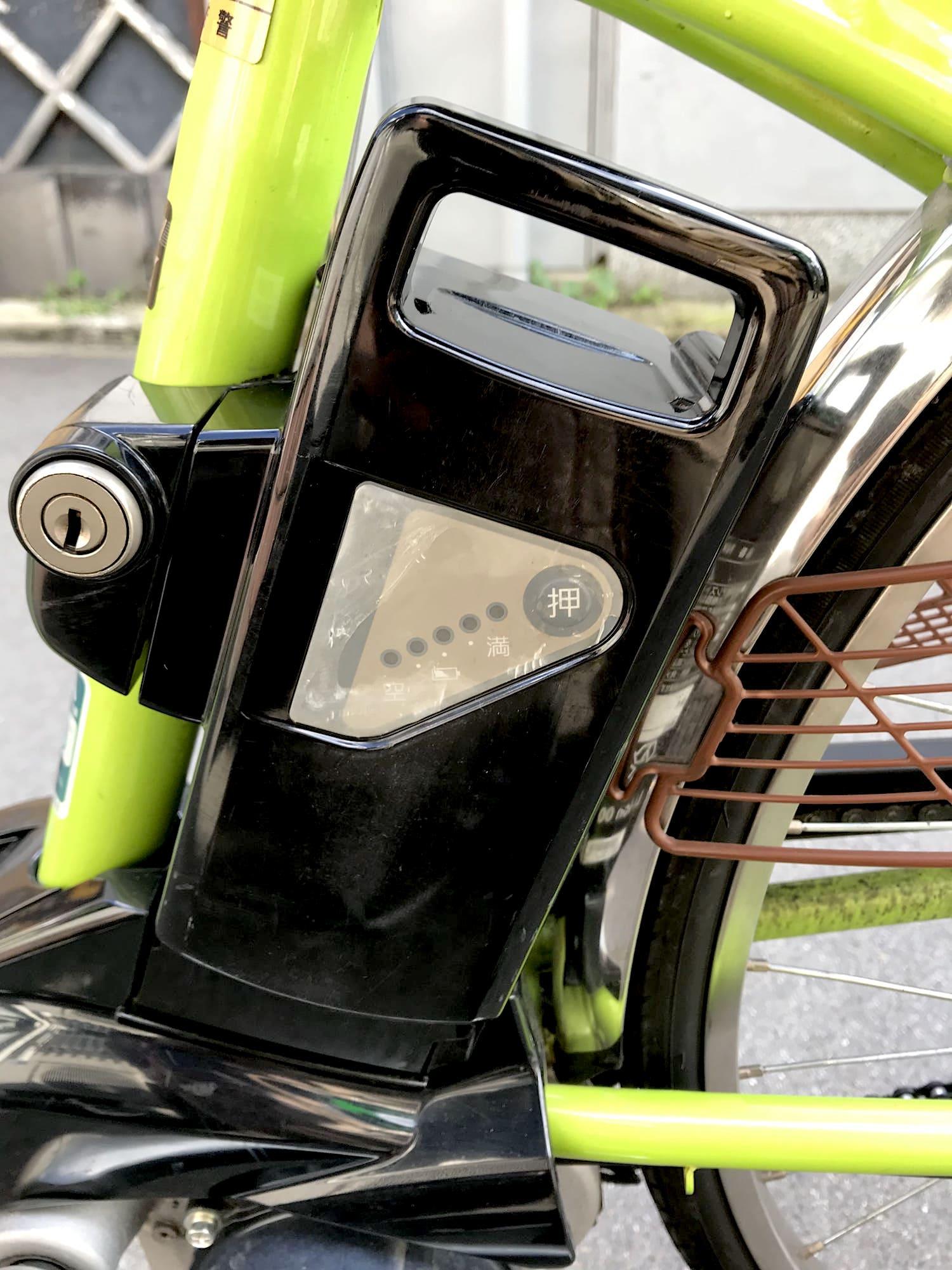 自転車のバッテリーの写真